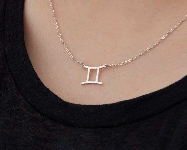 巴厘島手工純銀星座項鍊(雙子座)