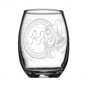 客製化印上名字星座酒杯 (水瓶座)