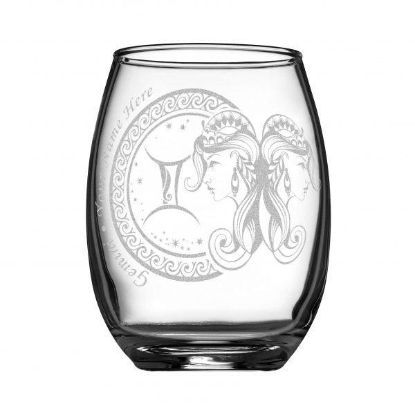客製化印上名字星座酒杯 (雙子座)