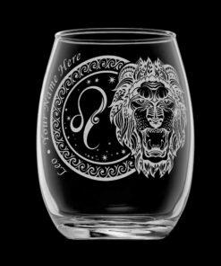 客製化印上名字星座酒杯 (獅子座)