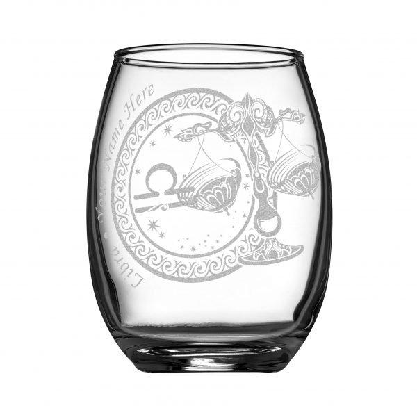 客製化印上名字星座酒杯 (天秤座)