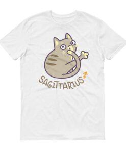 射手座貓咪白色短袖T-Shirt