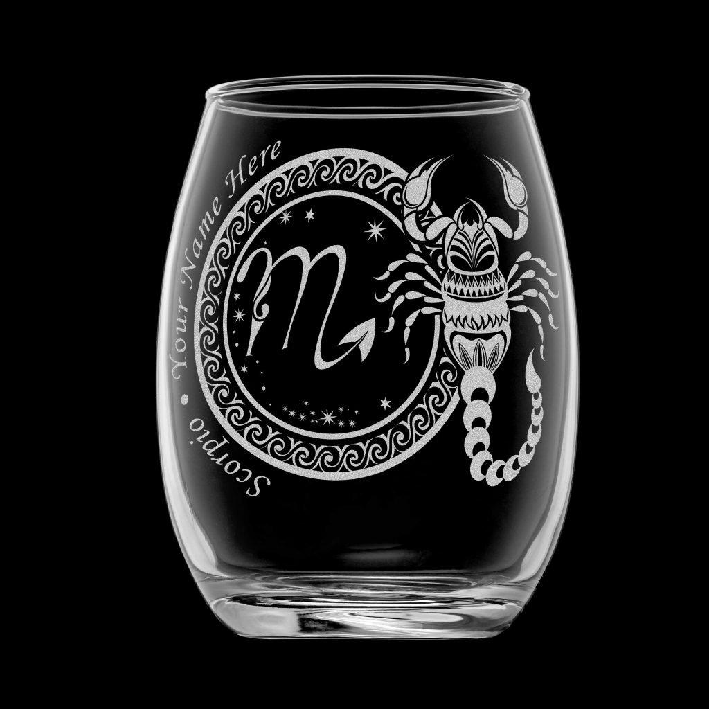 客製化印上名字星座酒杯 (天蠍座)