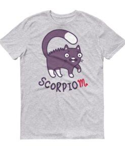 天蠍座貓咪淺色短袖T-Shirt