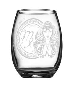 客製化印上名字星座酒杯 (處女座)
