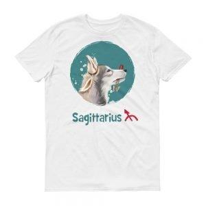 射手座狗淺色短袖T-Shirt