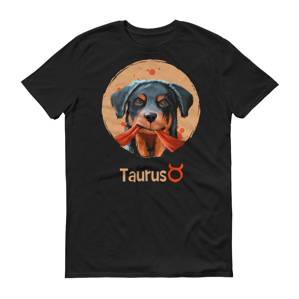 金牛座狗深色短袖T-Shirt