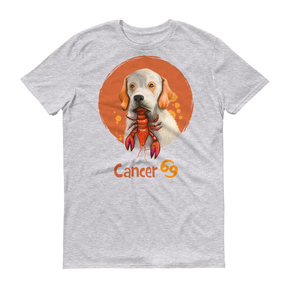巨蟹座狗淺色短袖T-Shirt
