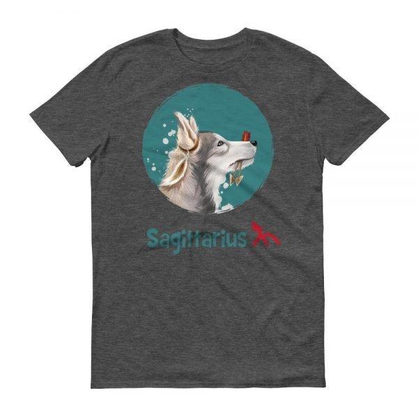 射手座狗深色短袖T-Shirt