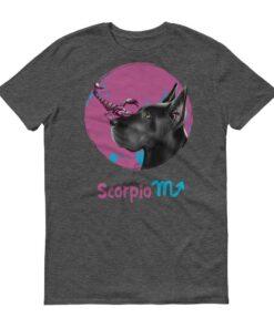 天蠍座狗深色短袖T-Shirt