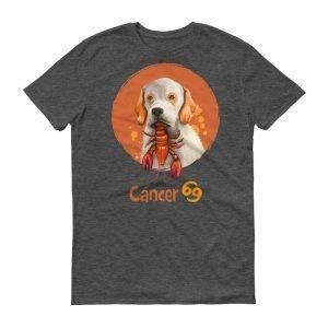 巨蟹座狗深色短袖T-Shirt