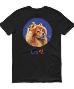 獅子座狗深色短袖T-Shirt